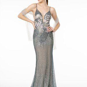 Spaghetti Strap Mermaid Sequined Dress GSGL2929